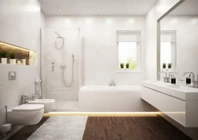 Glasbau Gerber Duschkabine-Mit-Badewannenaufsatz